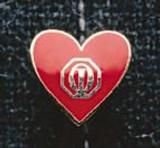 1410 - Red Heart Pin - thumbnail