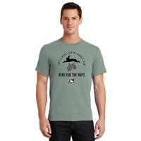 117 - Here for the Hops Rabbit Dad T-Shirt - thumbnail